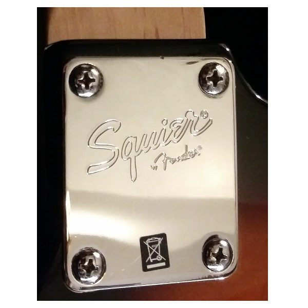 Fender Squier Stratocaster Guitar plate view