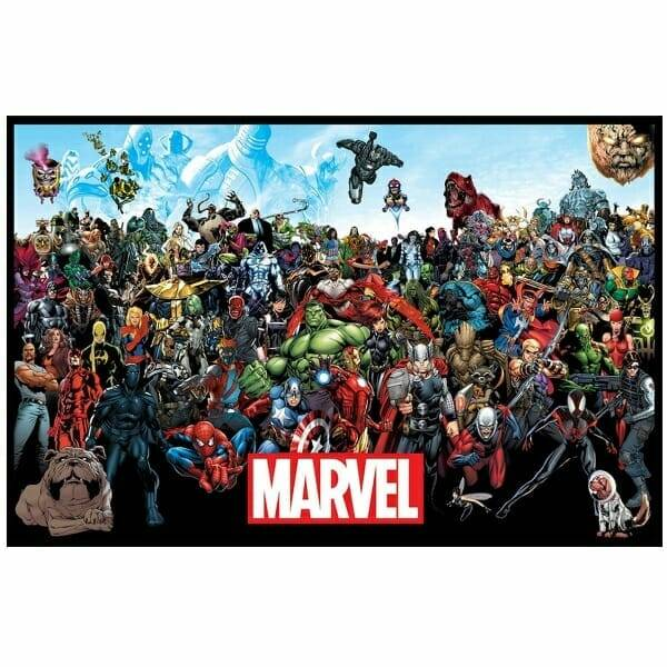 Framed Marvel Lineup Poster