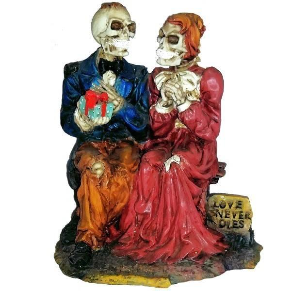 Skeleton Couple Figurine