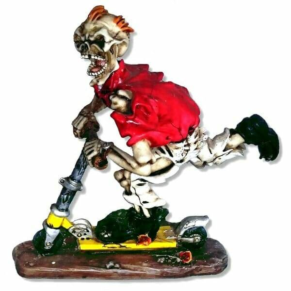 Skeleton Skater Figurine