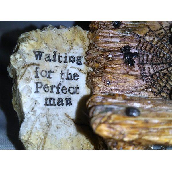 Skeleton Waiting For Man Figurine close up