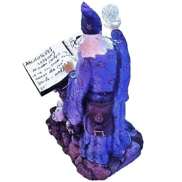 Wizard Figurine back view