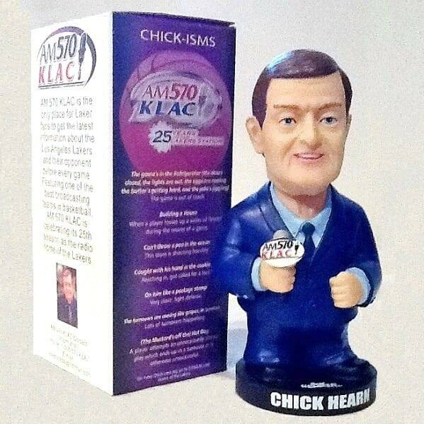 Chick Hearn KLAC Bobblehead with box