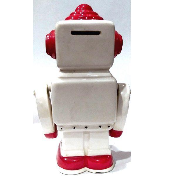70s Robot Coin Bank back view