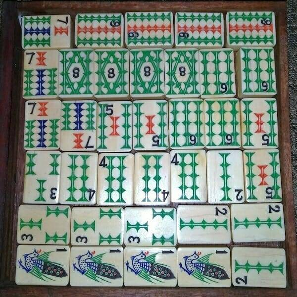 Mahjong Ivory Bamboo Set drawer 5