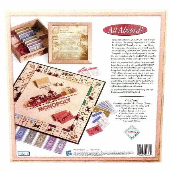 Monopoly Nostalgia Edition back view