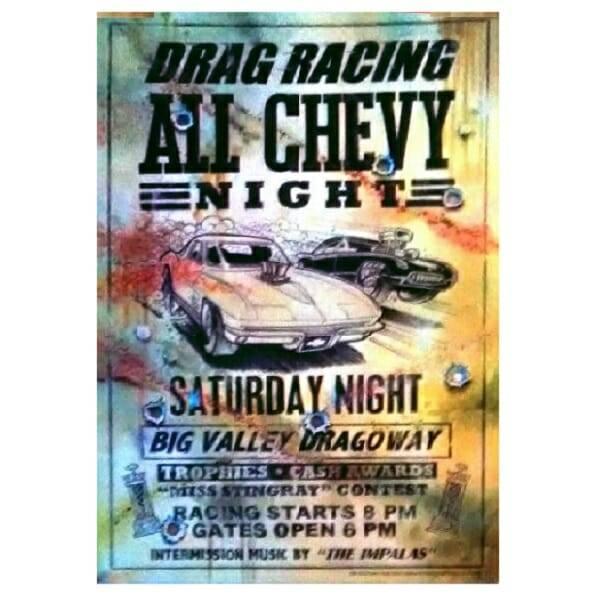 Drag Racing Tin Sign