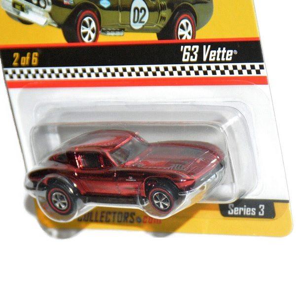 Hot Wheels Redline '63 Vette close up
