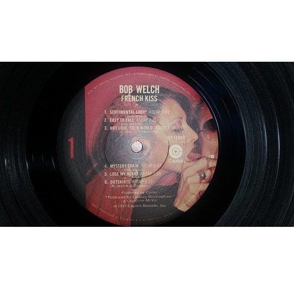 Bob Welch French Kiss Record side 1 close up