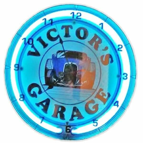 Neon Victor's Garage Clock