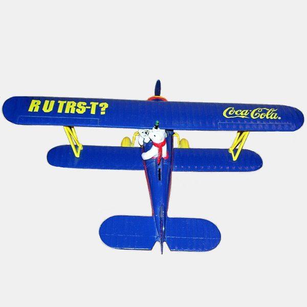 Coca-Cola Model Plane Coin Bank top view