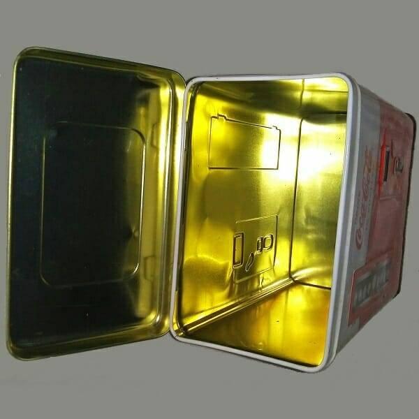 Coke Vending Machine Tin inside view