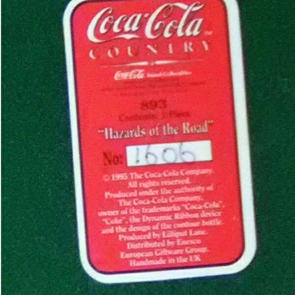 Lilliput Lane Coke Billboard bottom close up