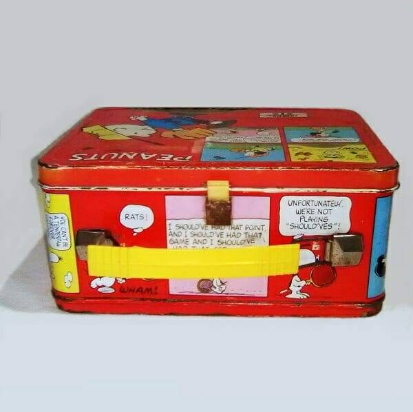 Peanuts Lunch Box top view