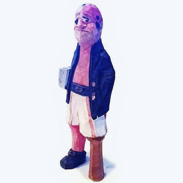 Wood Pegleg Pirate Figurine side view 2