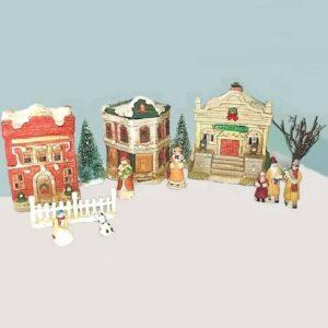 60s Ceramic Holiday Villiage