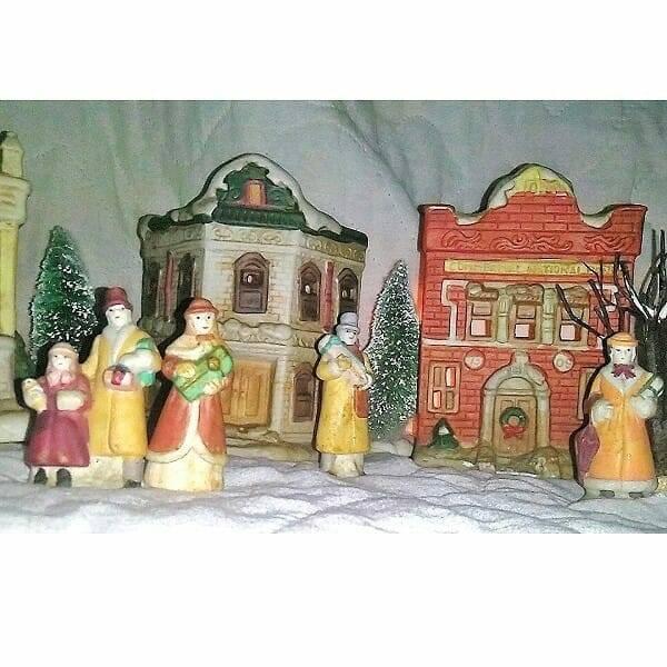 60s Ceramic Holiday Villiage pic 6