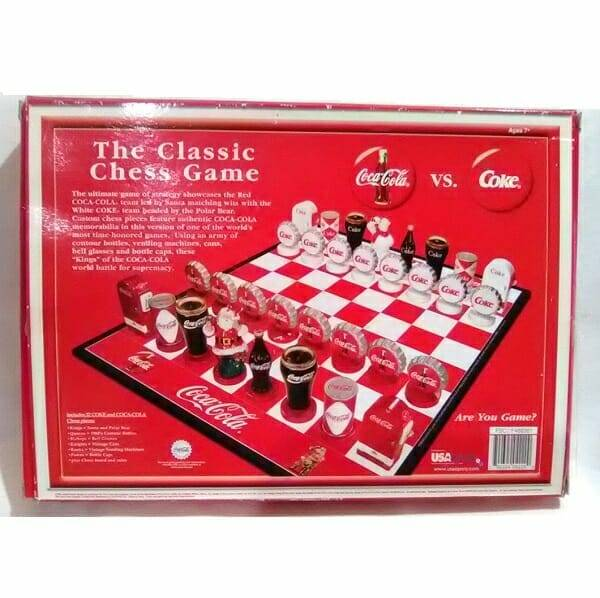Coca-Cola Collector Edition Chess Set back view