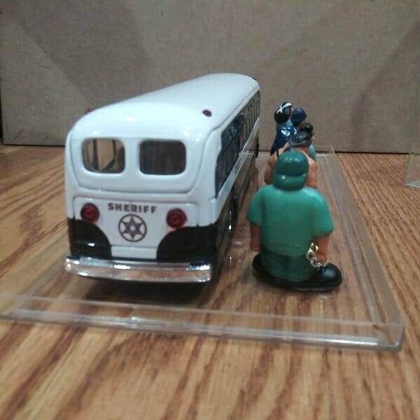 Cool Diecast Sheriff Bus back view