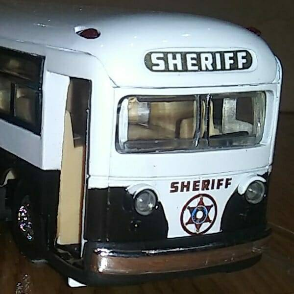 Cool Diecast Sheriff Bus close up