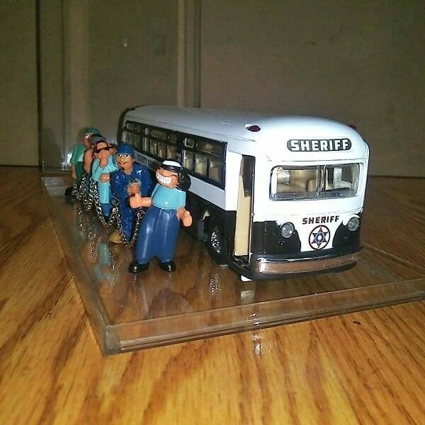 Cool Diecast Sheriff Bus front view