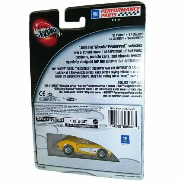 58 Corvette Hot Wheels back view
