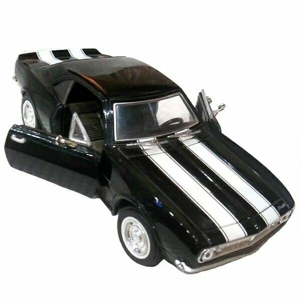 67 Black Camaro Model front view