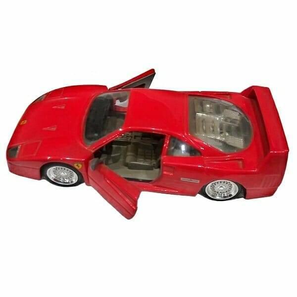 87 Red Ferrari Model top view