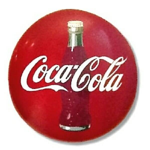 Coca-Cola Red Disc Ad Sign