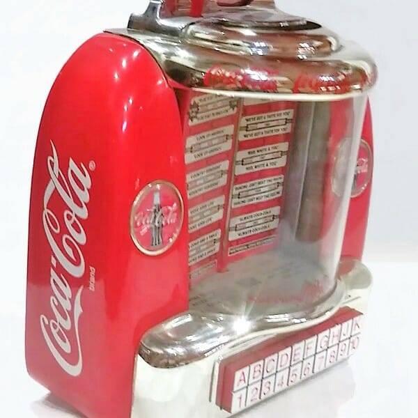 Coke Mini Jukebox side view