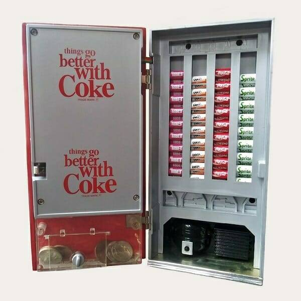 Coke Mini Music Vending Machine open view
