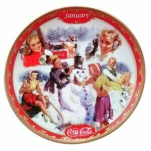 Coca-Cola January Plate