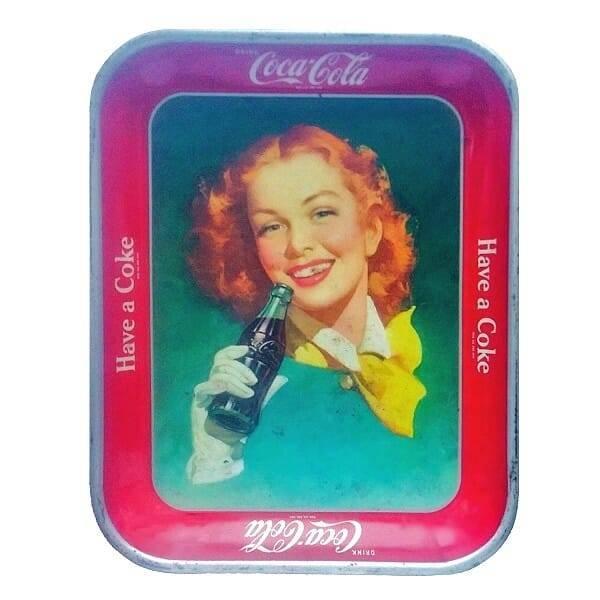 50s Coca-Cola Redhead Tray