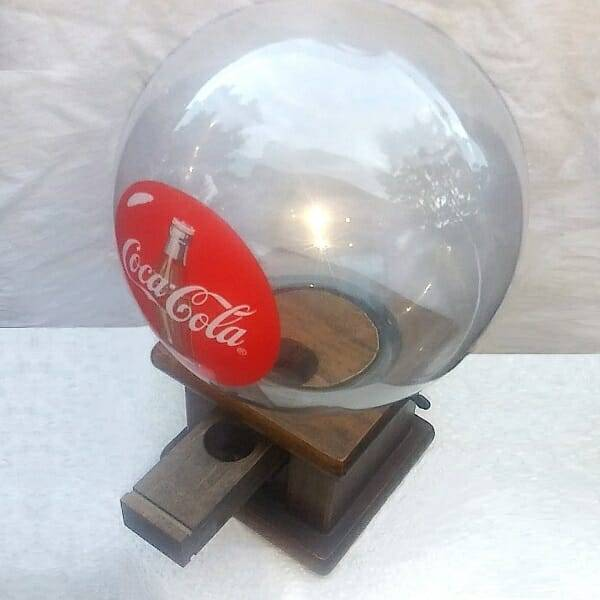 Manual Coke Gumball Machine top view