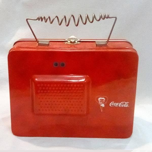 Betty Boop Cute Coke Tin Tote back view