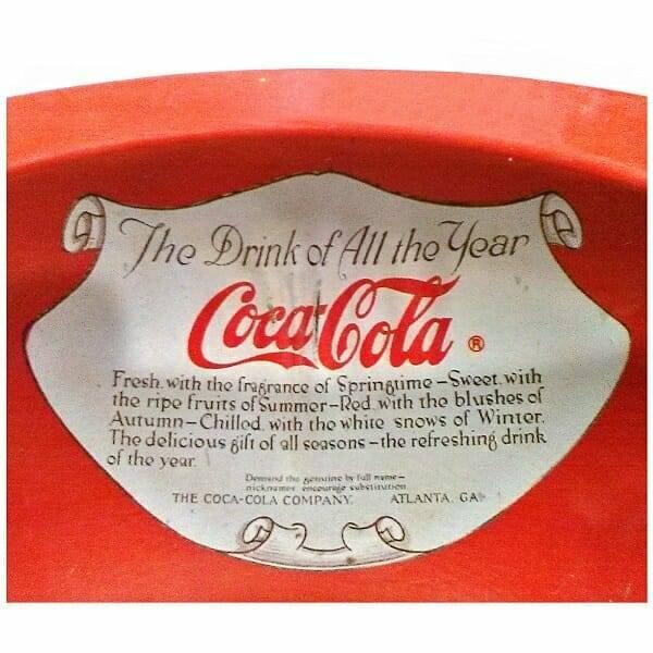 Vintage Round Coca-Cola Tray